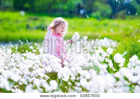 Little Girl In A Flower Field