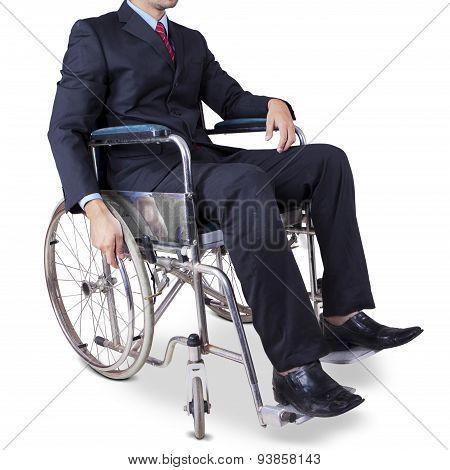 Closeup Of Entrepreneur In Wheelchair