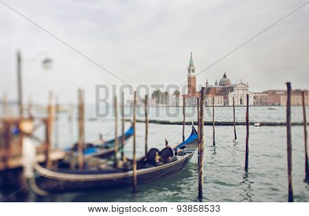 Tilt Shift Photo Of View Of Santa Maria Maggiore Island With Gondola