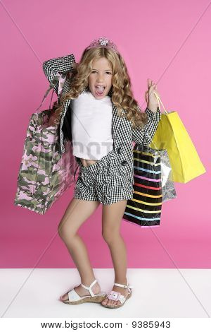 Niña Shopper Humor Shopaholic