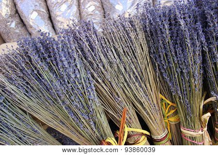 Bunches Of Dried Lavender Flowers For Sale In Aix En Provence