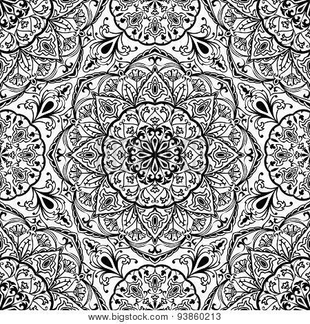 Stylized Floral Medieval Pattern.