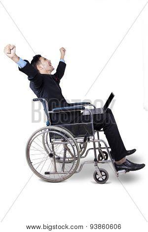 Successful Disabled Entrepreneur In Studio