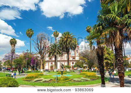 Plaza In Cochabamba, Bolivia