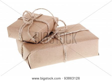 Two Brown Packages