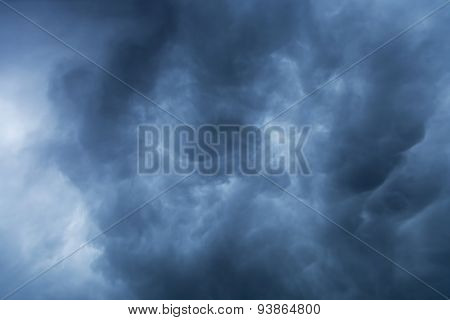 Blue Storm Clouds Background