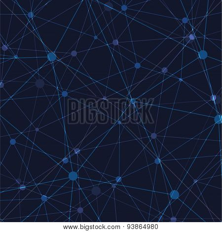 Vector modern abstract polygonal space background.