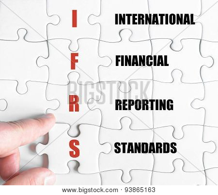 Last Puzzle Piece With Business Acronym Ifrs