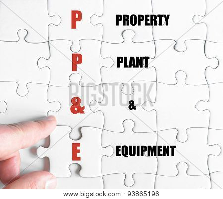 Last Puzzle Piece With Business Acronym Ppe