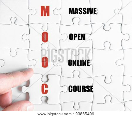 Last Puzzle Piece With Business Acronym Mooc