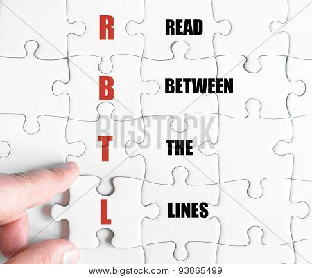 Last Puzzle Piece With Business Acronym Rbtl