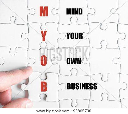 Last Puzzle Piece With Business Acronym Myob