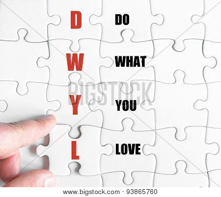 Last Puzzle Piece With Business Acronym Dwyl