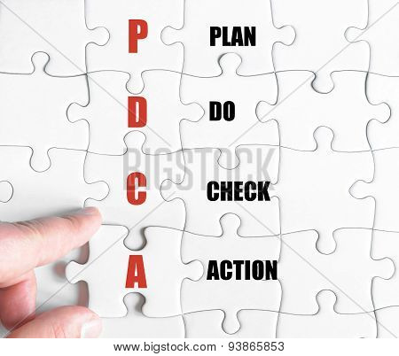 Last Puzzle Piece With Business Acronym Pdca