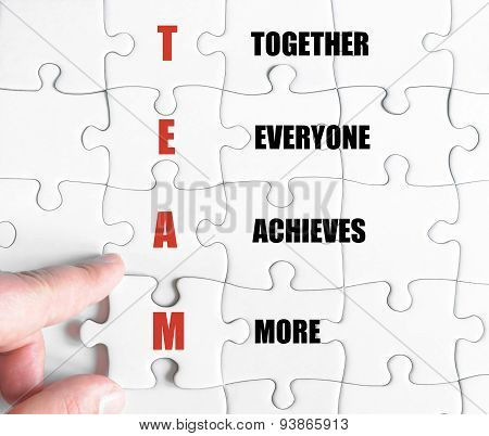 Last Puzzle Piece With Business Acronym Team