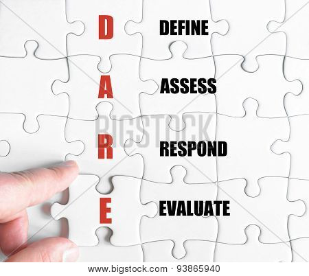 Last Puzzle Piece With Business Acronym Dare