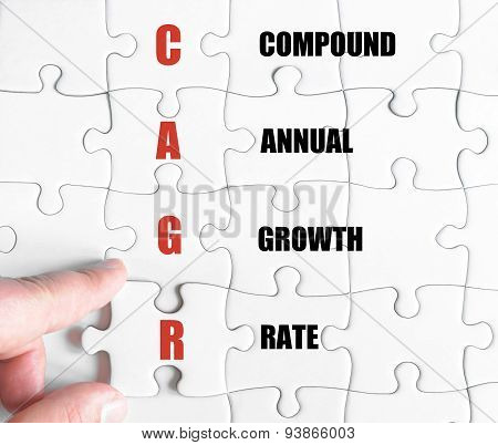 Last Puzzle Piece With Business Acronym Cagr