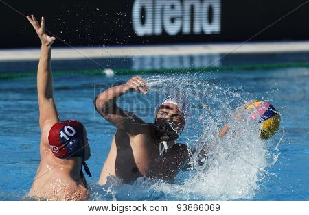 BARCELONA - MAY, 29: Boris Vapensky of ZF Eger during a LEN Champions League Final Six match against Szolnoki VSK at the Picornell Swimming pool on May 29 2015 in Barcelona Spain