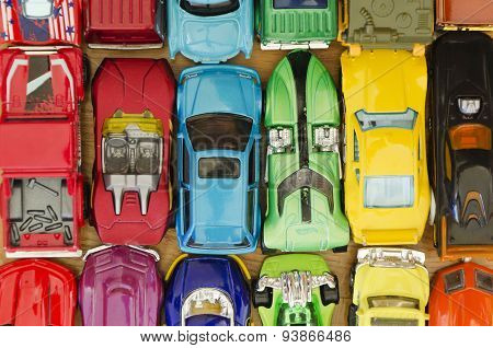lot of miniature cars background