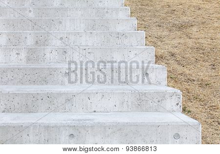 Long outdoor concrete stairs at public park