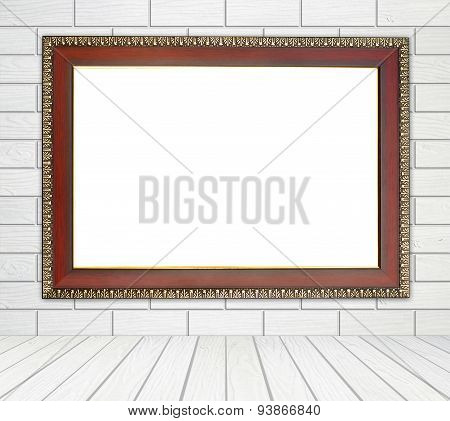 Blank Wood Frame In Room
