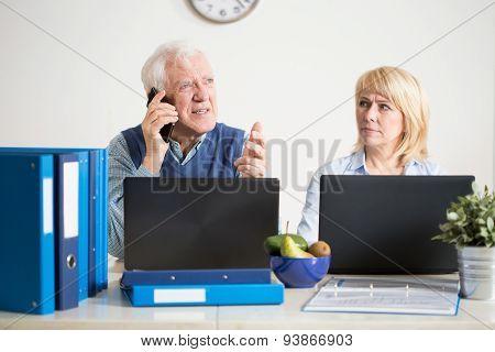 Senior Talking On The Phone