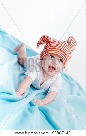 Baby In Hat Lying