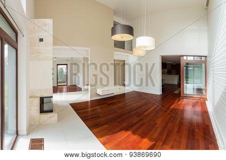Wooden Parquet In Luxury Interior