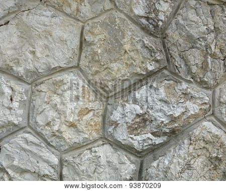Stone wall close-up natural background
