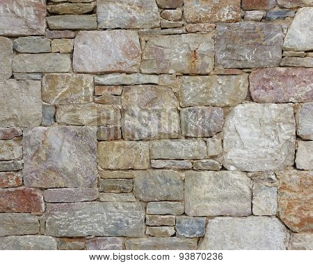 colorful stone wall close-up