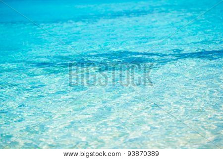 Idyllic perfect turquoise water at exotic island
