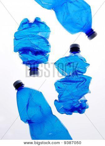 four plastic bottles