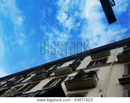 Blue Sky And Apartment Building