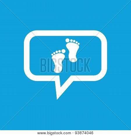 Footprint message icon
