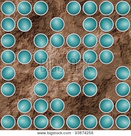 Abstract Textured Background With Turquoise Scattered Circular Elements