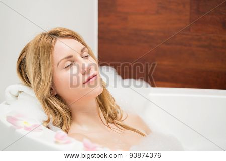 Woman Resting During Bath
