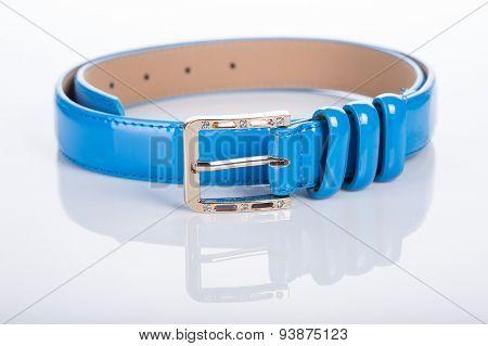 blue Women's belt with rhinestones