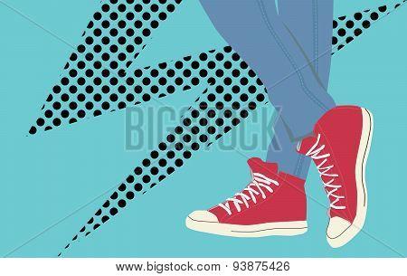 Vector vintage sneakers