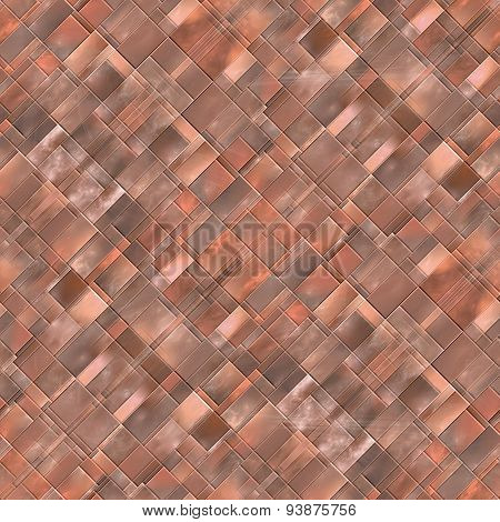 Seamless Diagonal Mosaic Background In Brown Spectrum