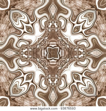 Seamless Ornate Texture Or Pattern In Brown 4