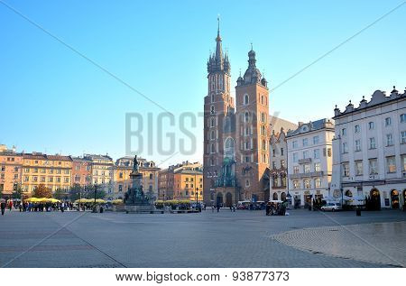 St. Mary's Church on the main square in Krakow.