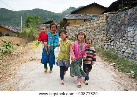 Ethnic minority children in Hagiang, Vietnam