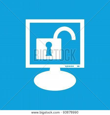 Unlocked monitor icon