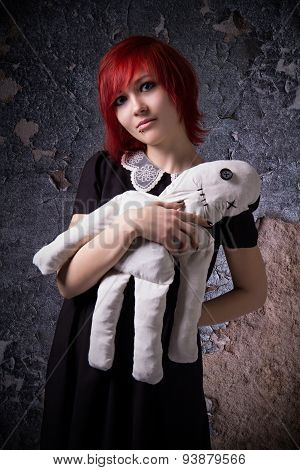 Red-haired Girl With A Rag Doll