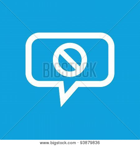 NO sign message icon