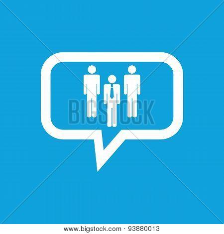Work team message icon