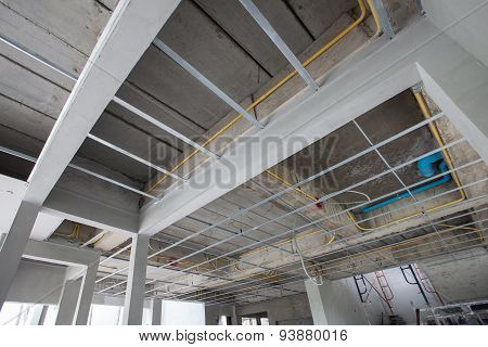 Ceiling Structure Of House Construction Site
