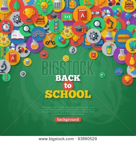 Back to School Background. Vector Illustration.