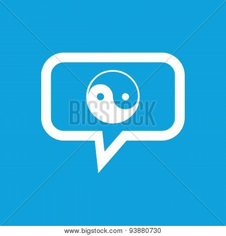 Ying yang message icon