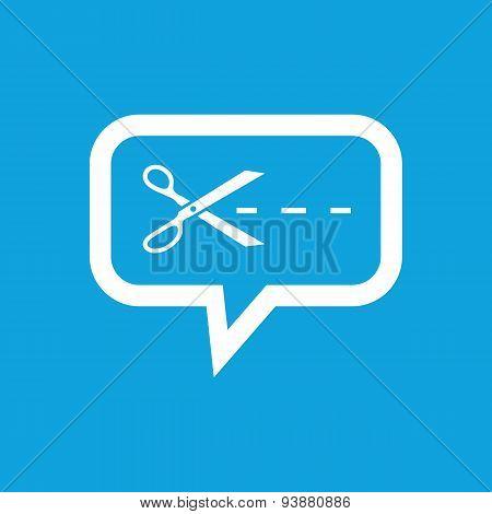 Cut message icon